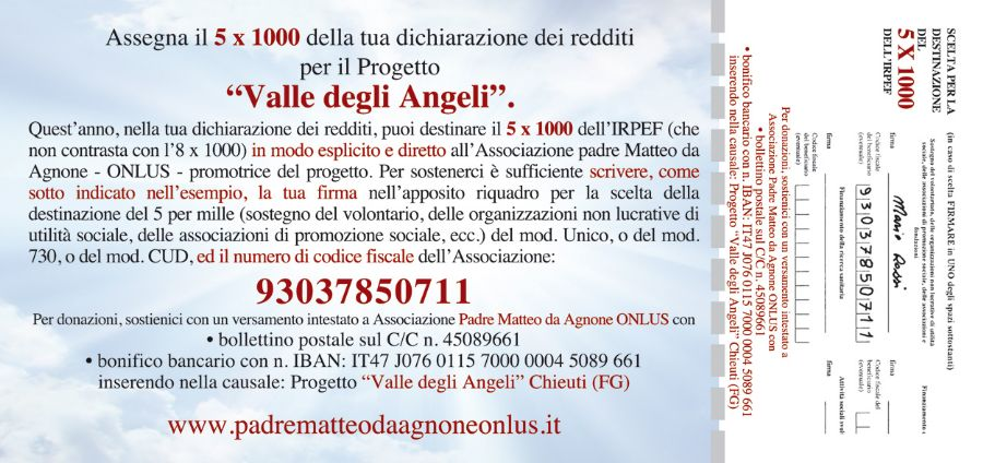 Cartonlina donazione 5x1000